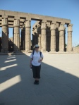 The lone tourist at Luxor Temple