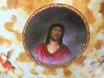 Jesus in ceiling of Coptic Church