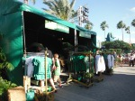 Downtown Disney turns green