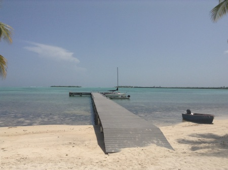 The dock at Little Cayman
