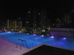 Hard Rock Hotel Pool at night